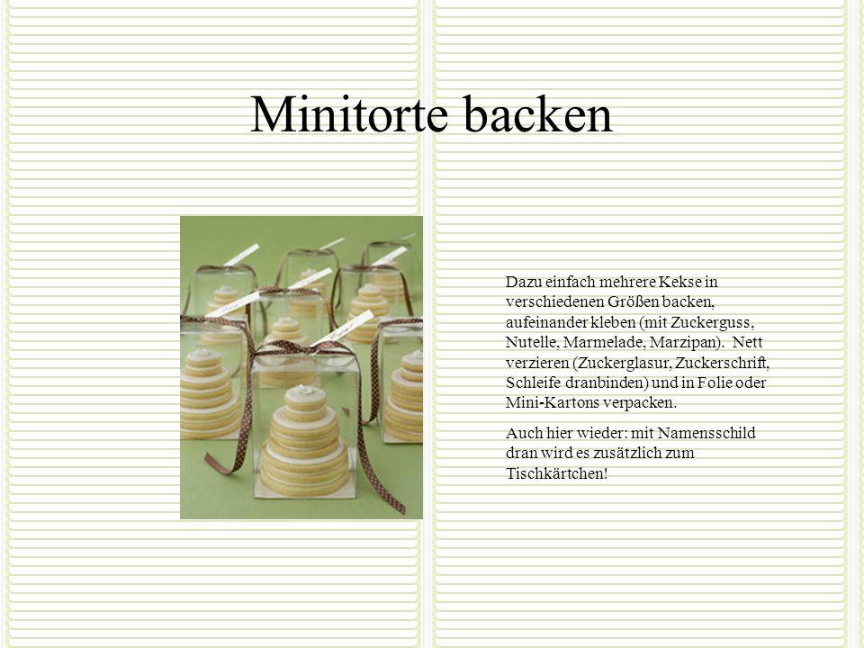 Minitorte backen