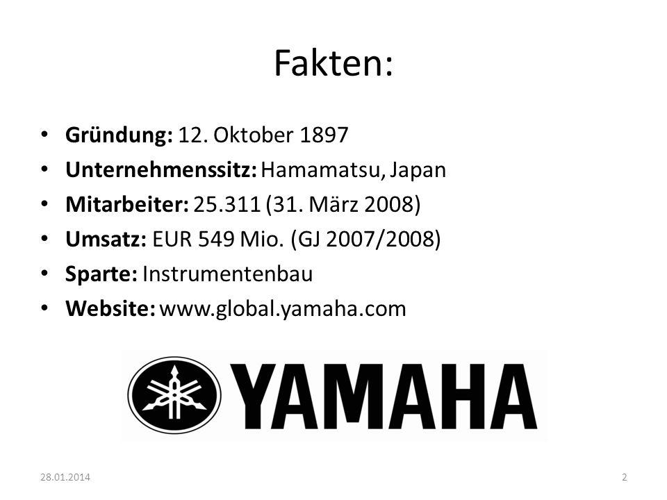 Fakten: Gründung: 12. Oktober 1897 Unternehmenssitz: Hamamatsu, Japan