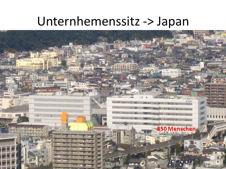 Unternhemenssitz -> Japan