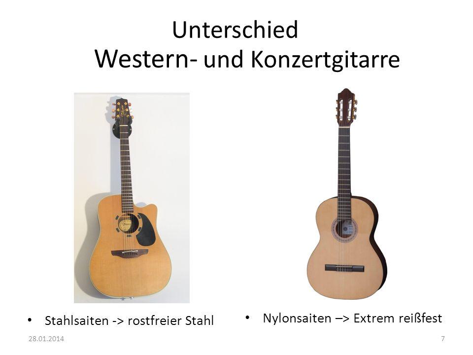 Western- Unterschied und Konzertgitarre