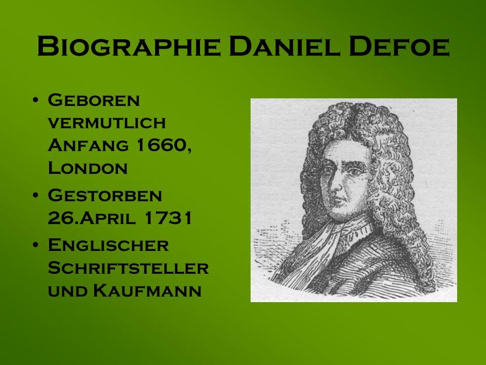 Biographie Daniel Defoe
