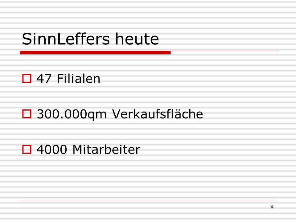 SinnLeffers heute 47 Filialen 300.000qm Verkaufsfläche