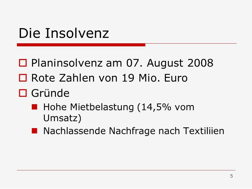 Die Insolvenz Planinsolvenz am 07. August 2008