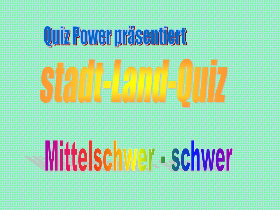 Quiz Power präsentiert