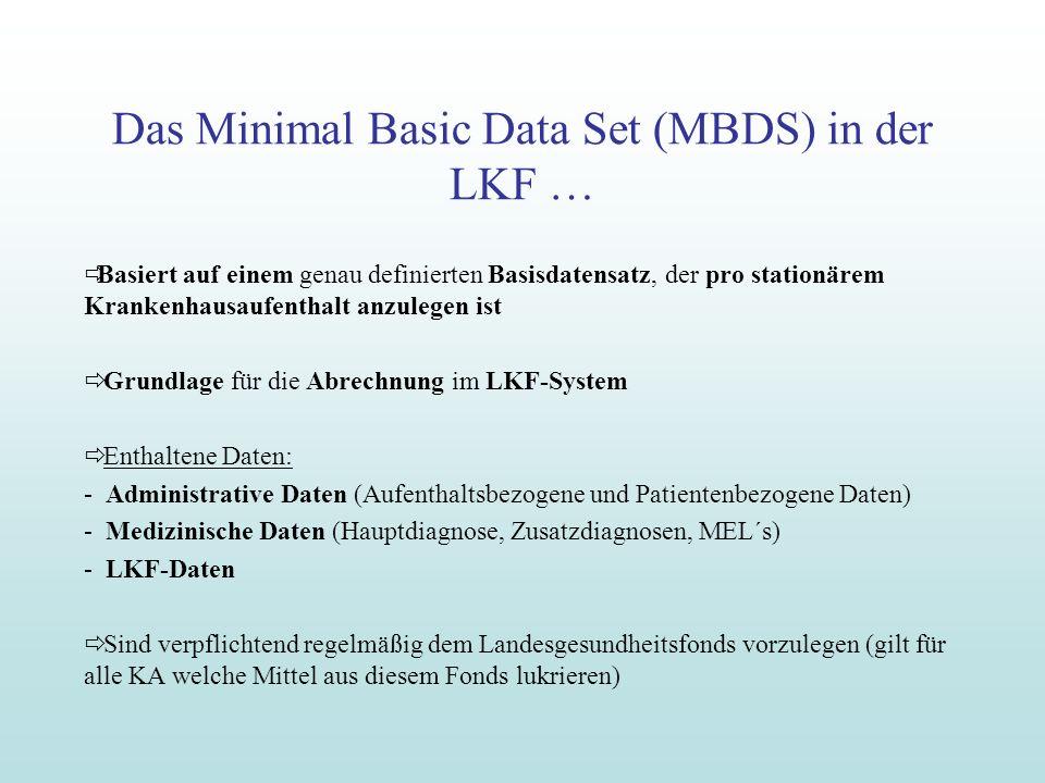 Das Minimal Basic Data Set (MBDS) in der LKF …