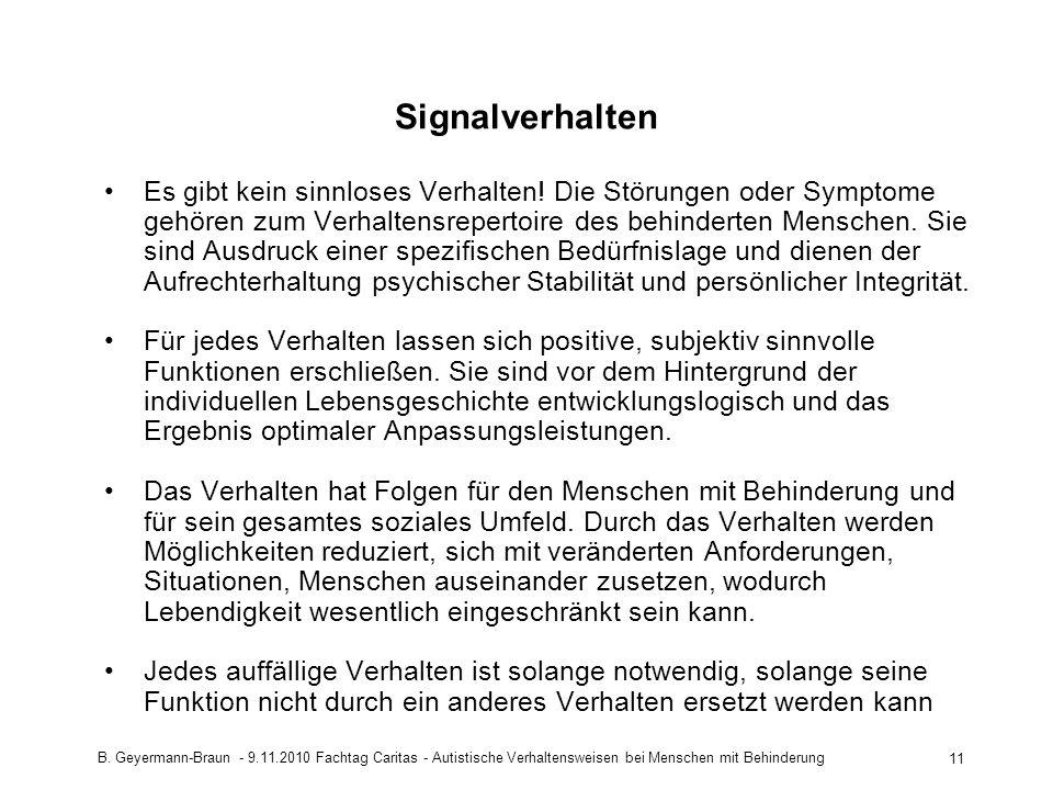Signalverhalten