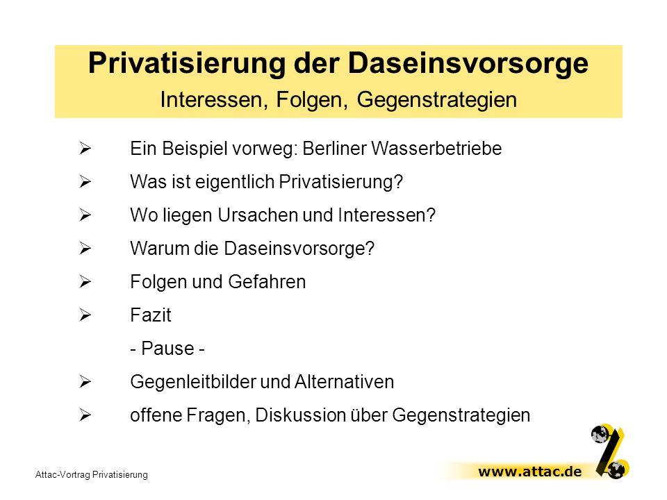 Privatisierung der Daseinsvorsorge
