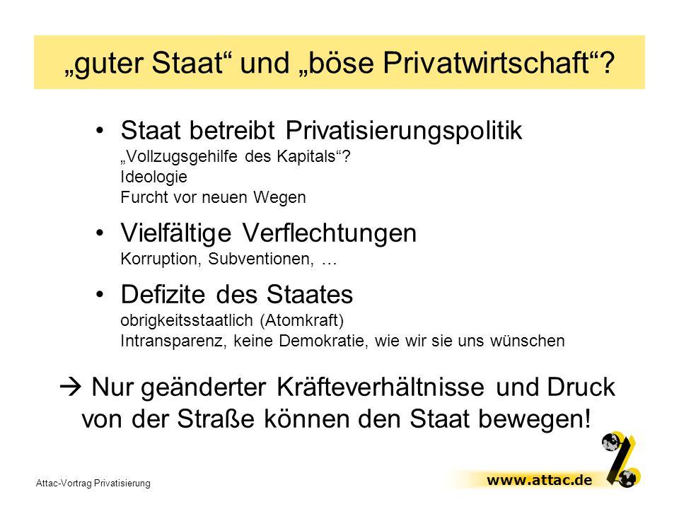"""""""guter Staat und """"böse Privatwirtschaft"""
