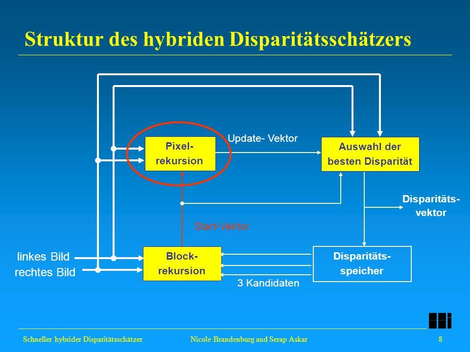 Struktur des hybriden Disparitätsschätzers