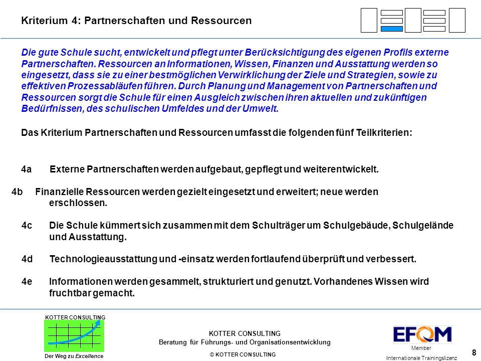 Kriterium 4: Partnerschaften und Ressourcen