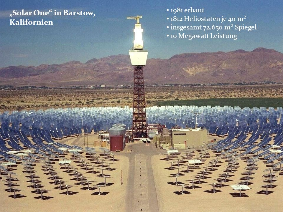 """Solar One in Barstow, Kalifornien"