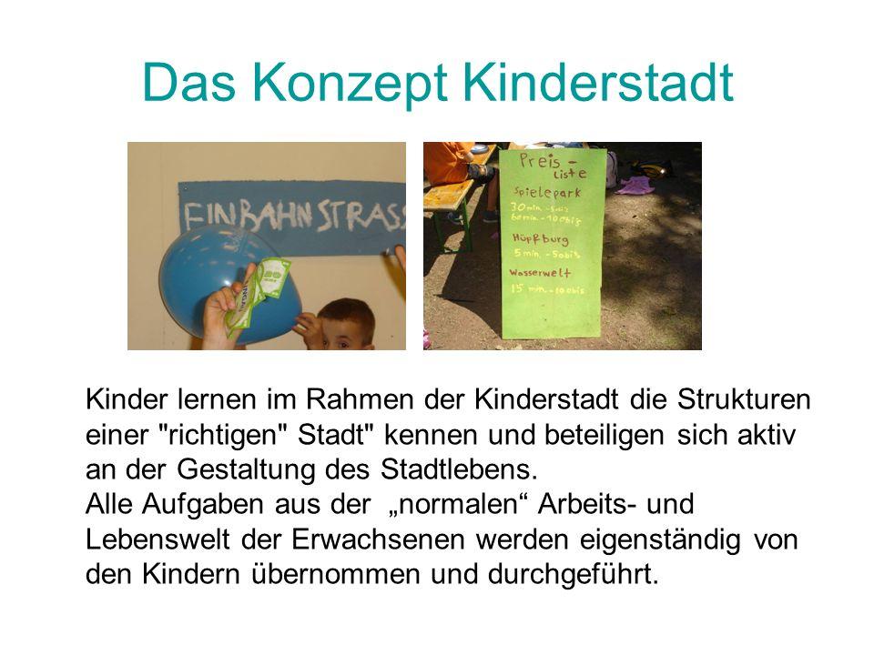 Das Konzept Kinderstadt
