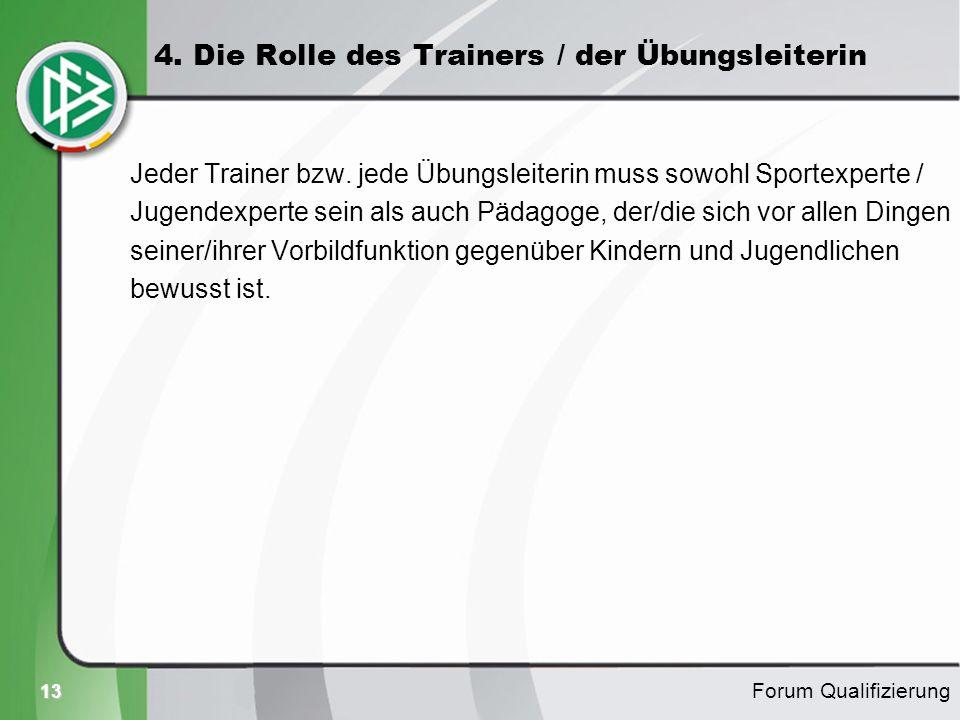 4. Die Rolle des Trainers / der Übungsleiterin
