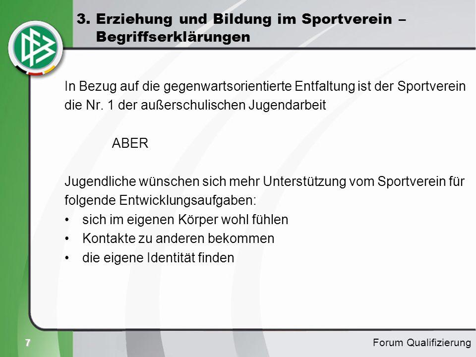 3. Erziehung und Bildung im Sportverein – Begriffserklärungen