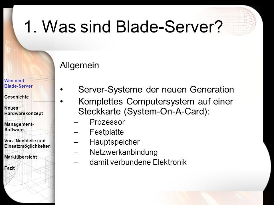 1. Was sind Blade-Server Allgemein