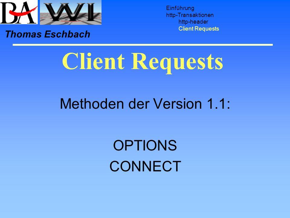 Methoden der Version 1.1: OPTIONS CONNECT