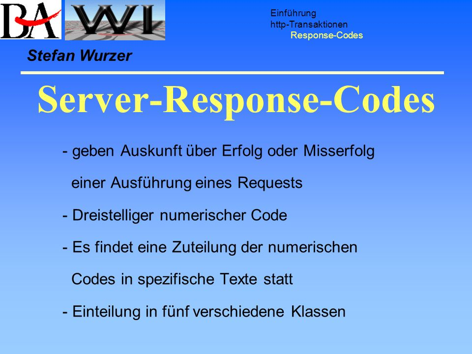 Server-Response-Codes