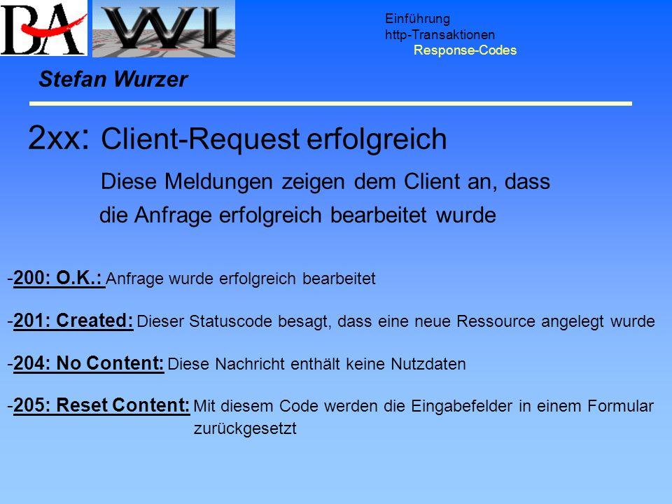 2xx: Client-Request erfolgreich