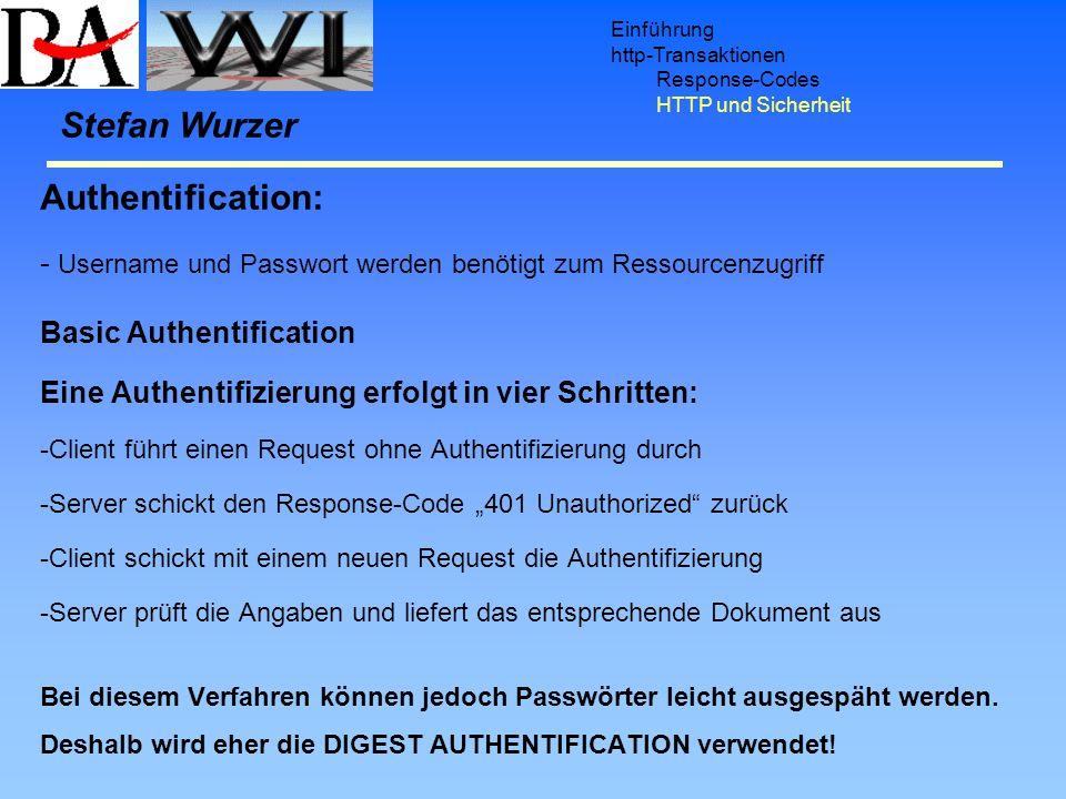 Stefan Wurzer Authentification: