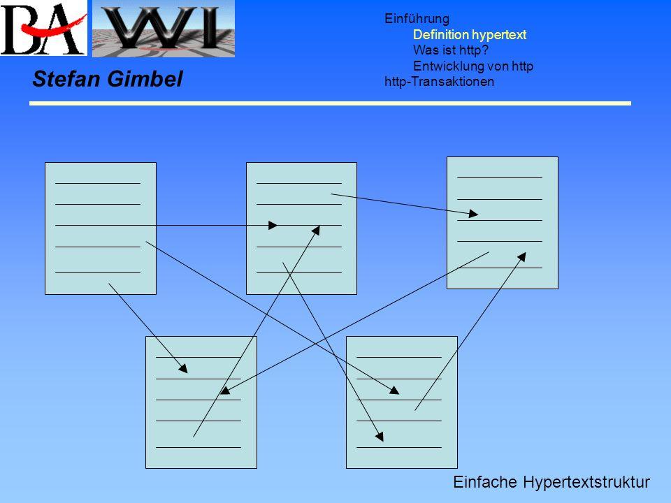 Stefan Gimbel Einfache Hypertextstruktur Einführung