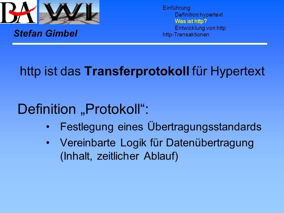 http ist das Transferprotokoll für Hypertext