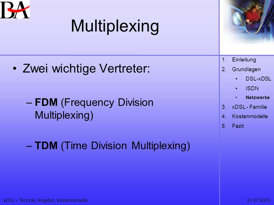Multiplexing Zwei wichtige Vertreter: