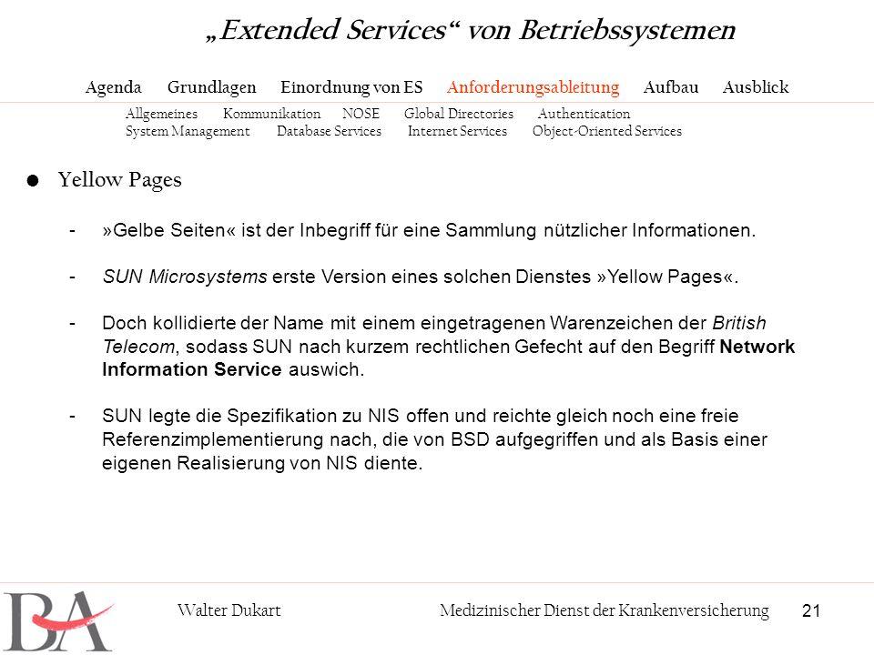"""""""Extended Services von Betriebssystemen"""