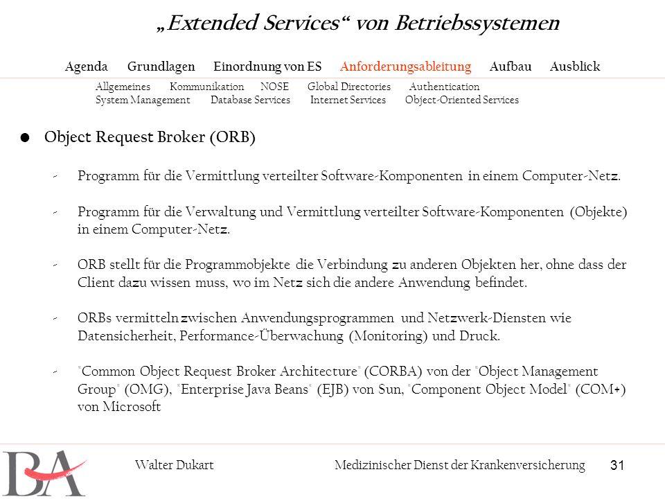 Extended Services Von Betriebssystemen Ppt Herunterladen