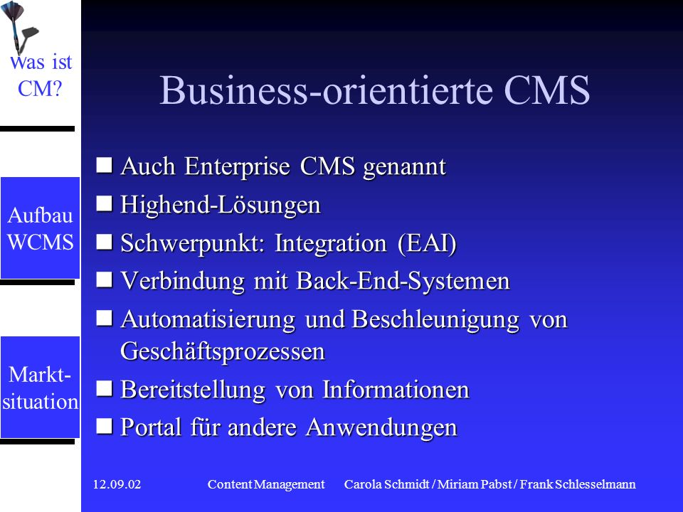 Business-orientierte CMS