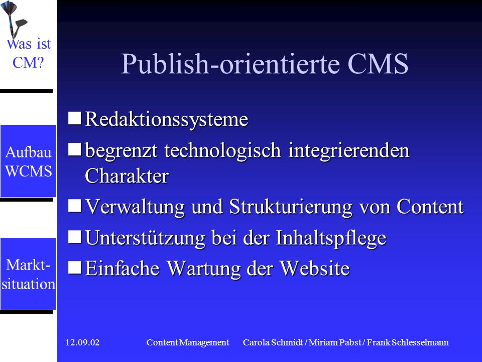 Publish-orientierte CMS