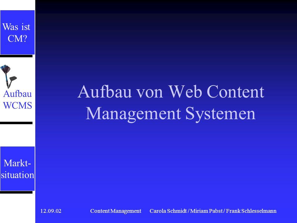 Aufbau von Web Content Management Systemen