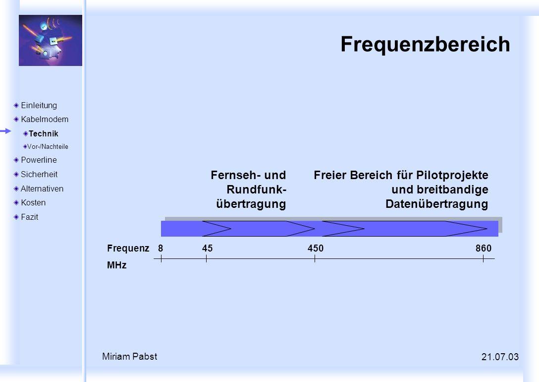 Frequenzbereich Fernseh- und Rundfunk-übertragung