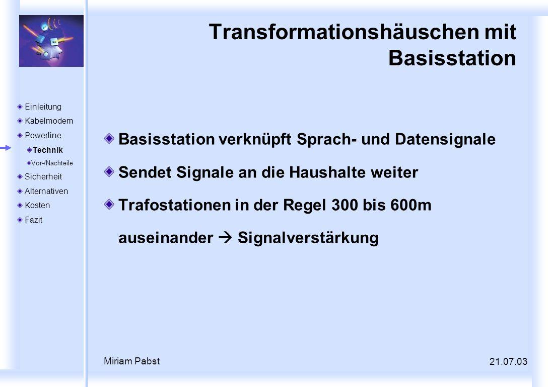Transformationshäuschen mit Basisstation