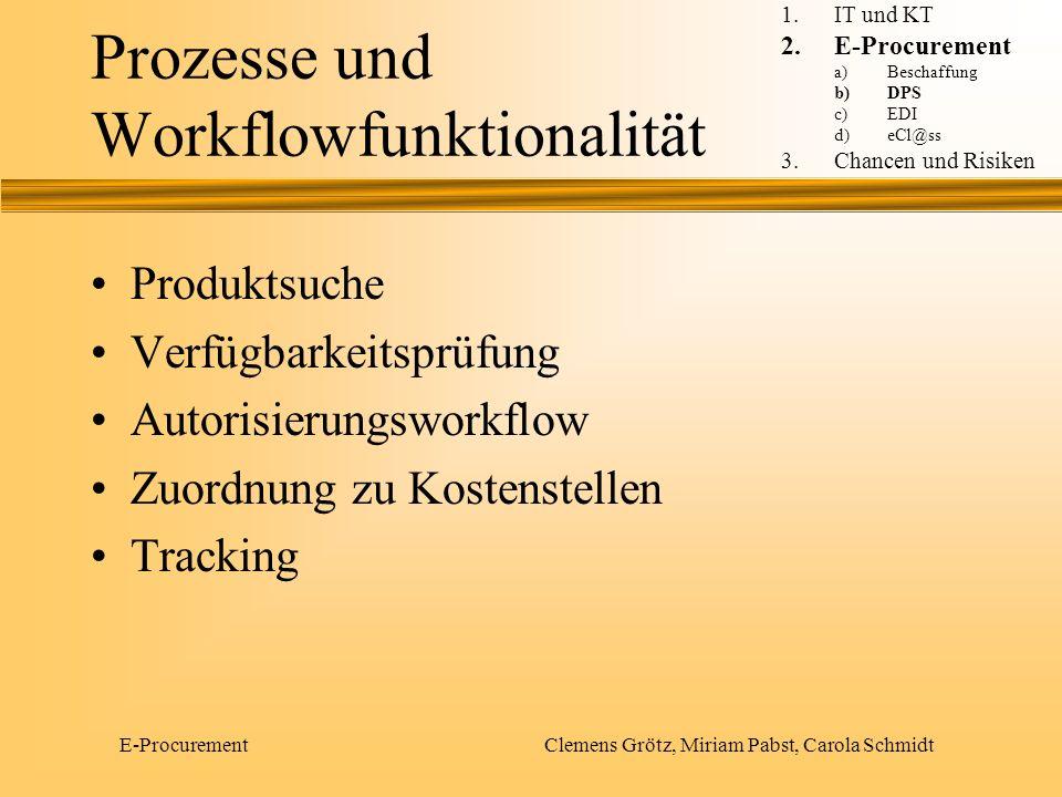 Prozesse und Workflowfunktionalität