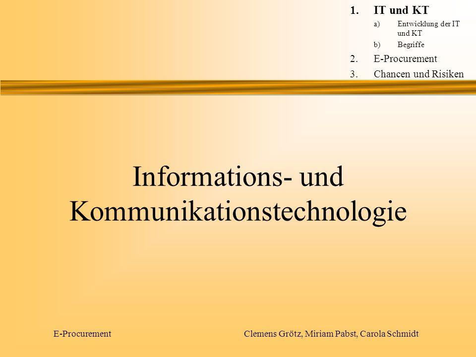 Informations- und Kommunikationstechnologie