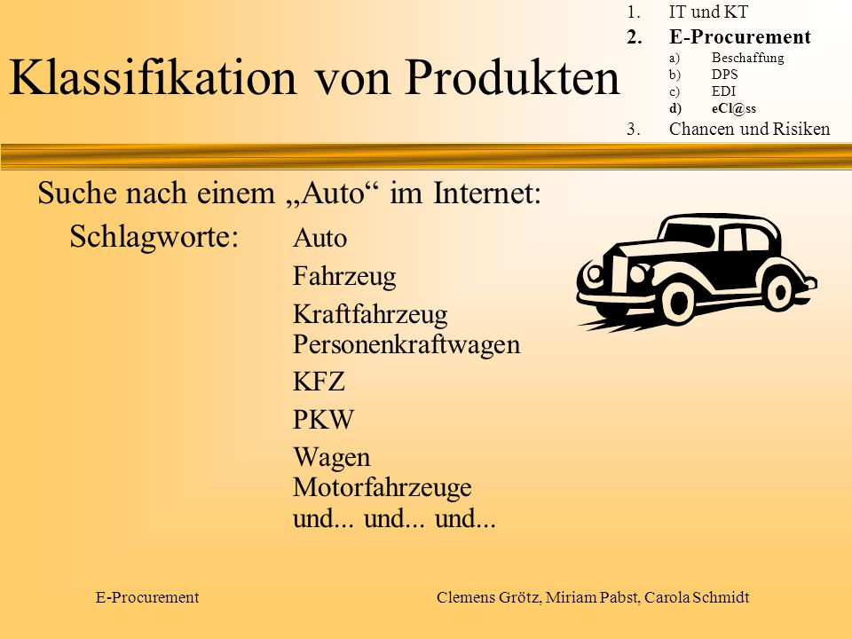 Klassifikation von Produkten