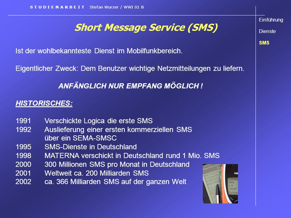 Short Message Service (SMS)