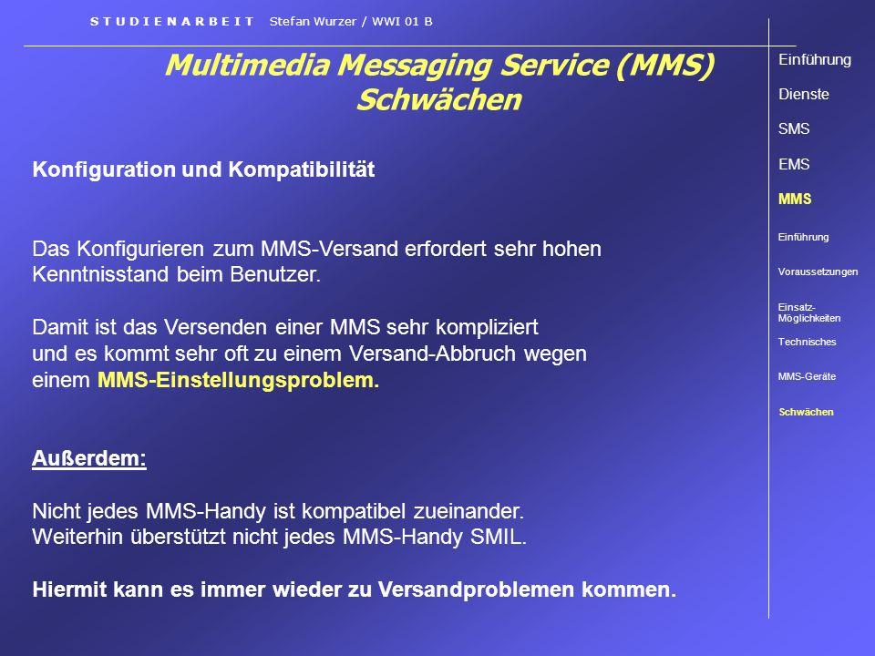 Multimedia Messaging Service (MMS) Schwächen