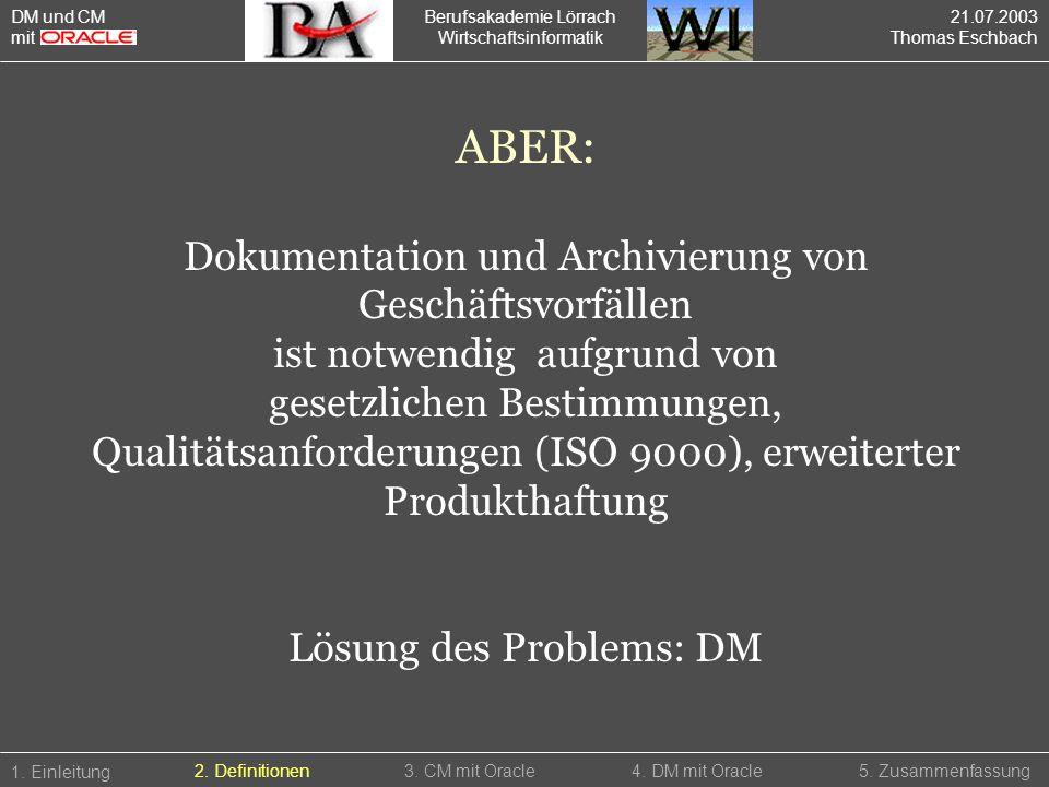 ABER: Dokumentation und Archivierung von Geschäftsvorfällen