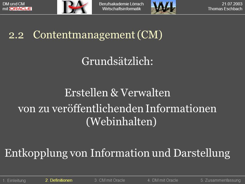 2.2 Contentmanagement (CM)