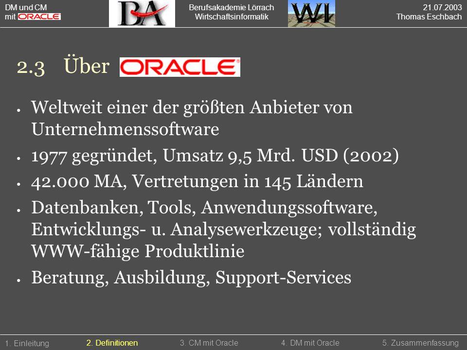2.3 Über Weltweit einer der größten Anbieter von Unternehmenssoftware