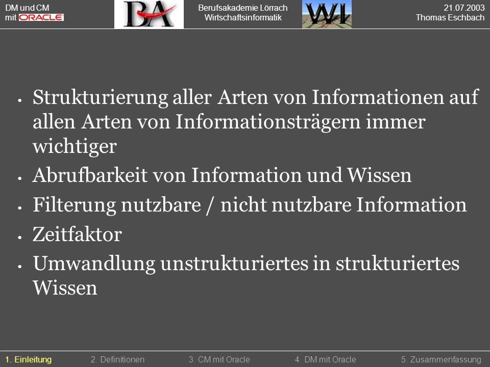 Abrufbarkeit von Information und Wissen