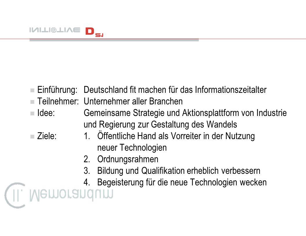 Einführung: Deutschland fit machen für das Informationszeitalter