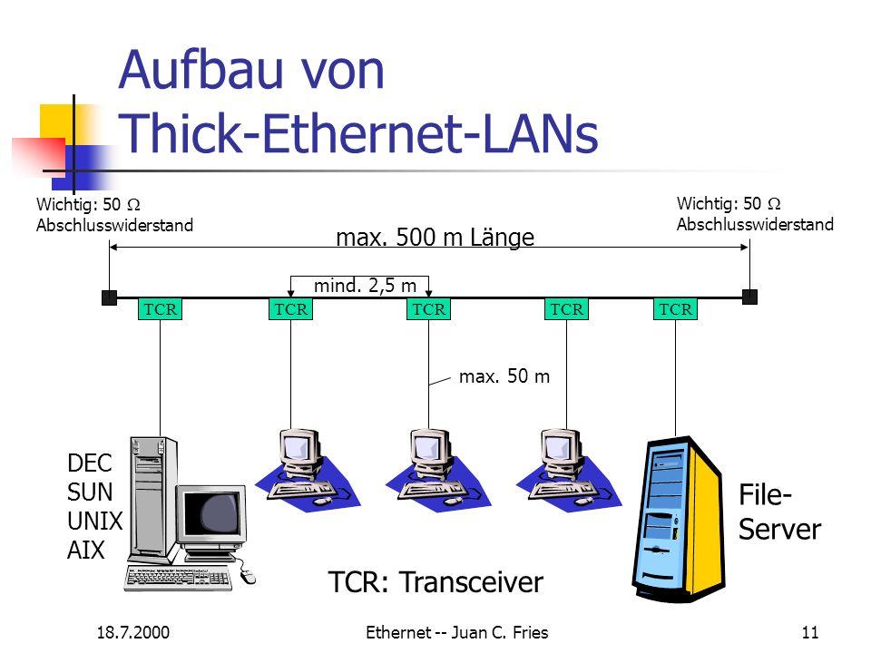 Aufbau von Thick-Ethernet-LANs
