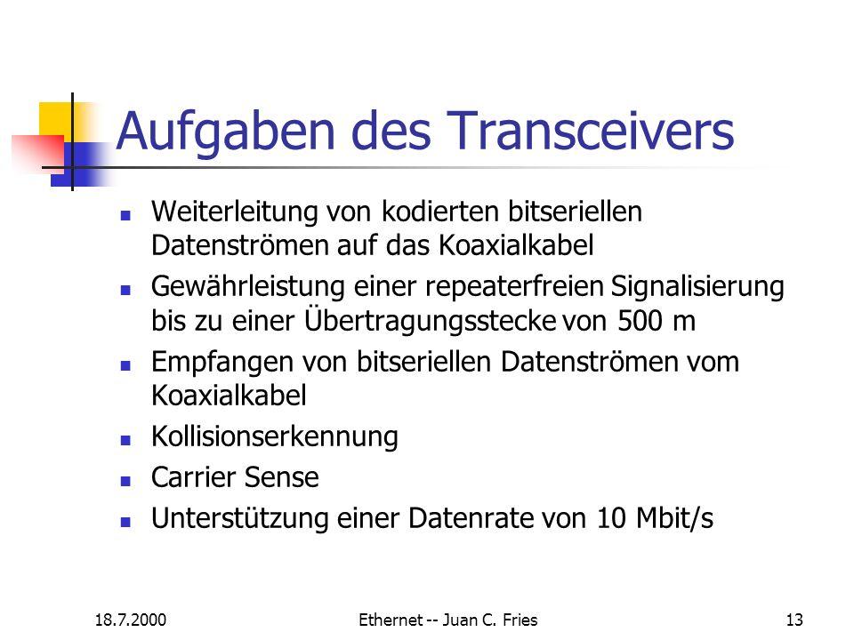 Aufgaben des Transceivers