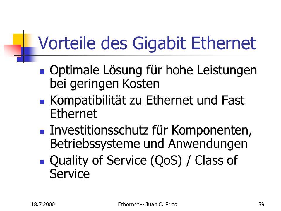 Vorteile des Gigabit Ethernet