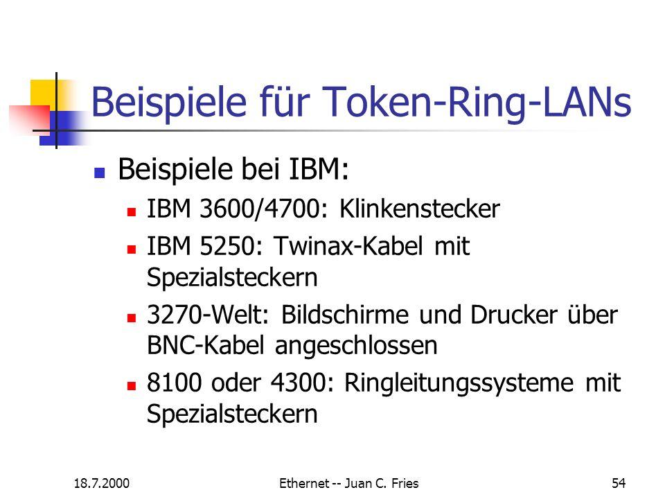 Beispiele für Token-Ring-LANs