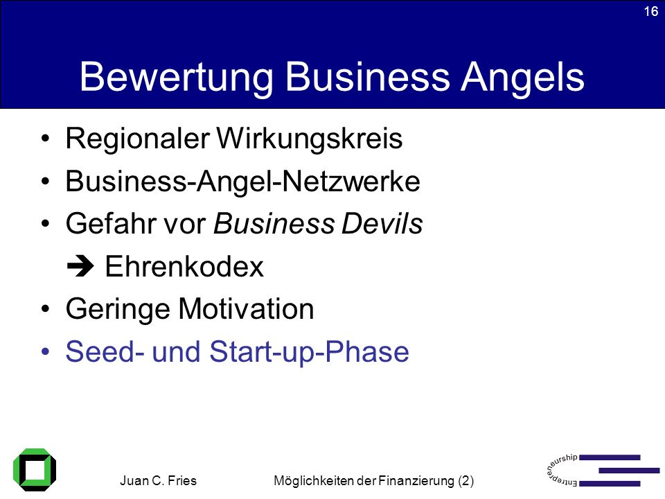 Bewertung Business Angels