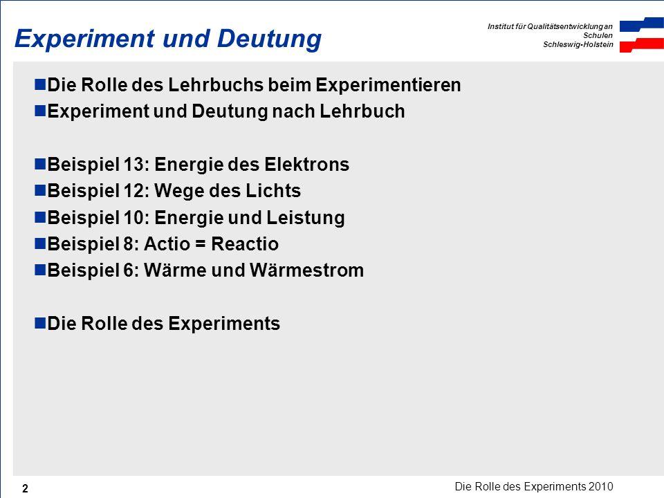 Experiment und Deutung