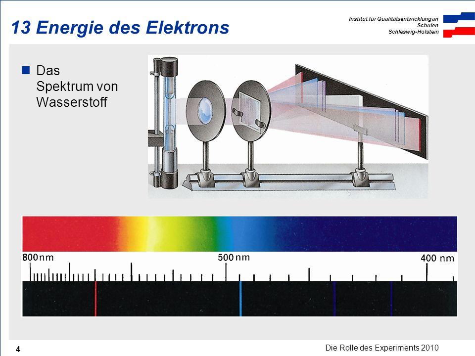 13 Energie des Elektrons Das Spektrum von Wasserstoff